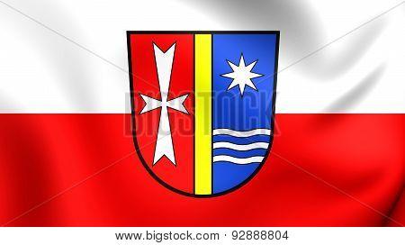 Flag Of The Bad Durrheim, Germany.