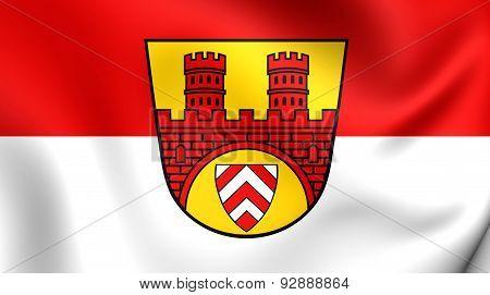 Flag Of The Bielefeld, Germany.