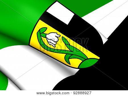 Flag Of Ettenstatt, Germany.