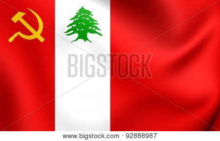 Flag Of The Lebanese Communist Party