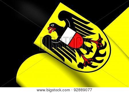 Flag Of Rottweil Kreis, Germany.