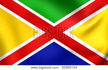 Flag Of The Steenbergen, Netherlands.