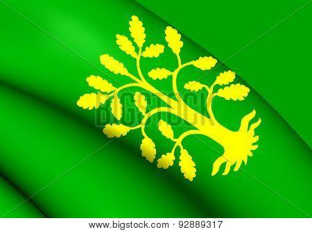 Flag Of Vest-agder, Norway.