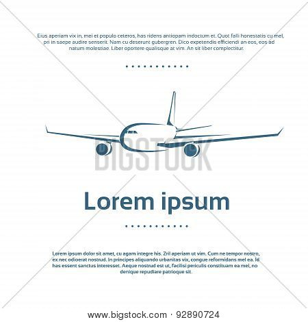 Aircraft Plane Logo Color Icon Vector