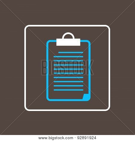 Clipboard File Document Checklist Icon Thin Line Simple Logo Minimalistic