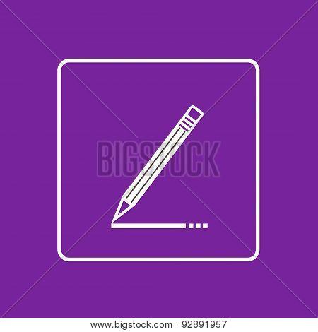 Pen Write Sign Up Icon Thin Line Simple Logo Minimalistic