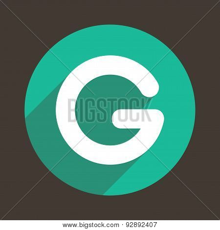 Letter G Logo Flat Icon Style. Vector