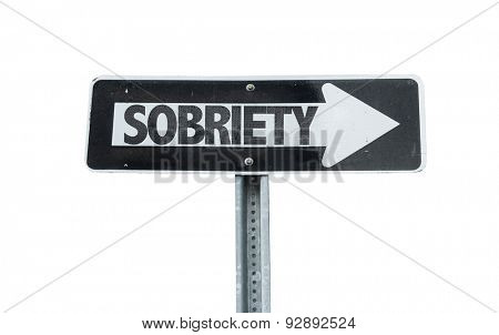 Sobriety direction sign isolated on white