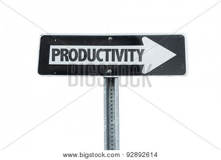 Productivity direction sign isolated on white