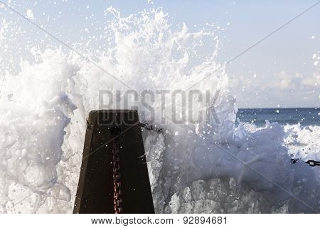 Wave Crashing Tidal Pool