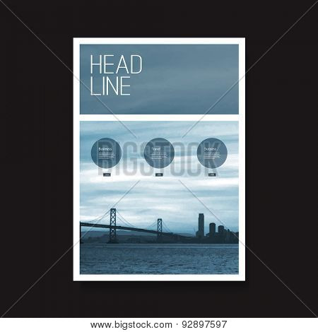 Flyer or Cover Design with San Francisco Bay View