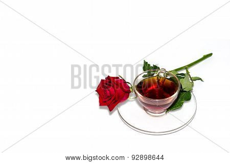 Black Tea And Red Rose
