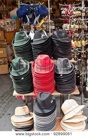 Austrian Hats In A Gift Shop