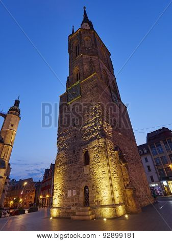 the Red Tower in Halle an der Saale Germany