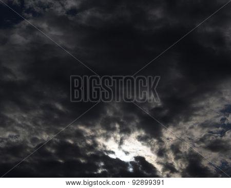 dark clouds on stormy sky