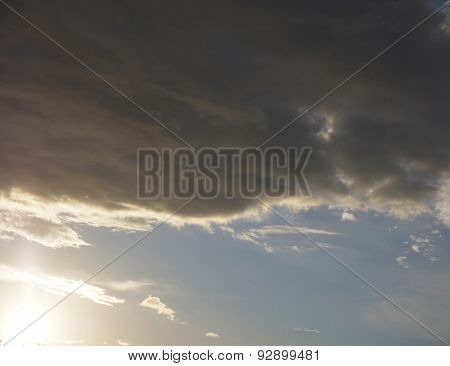 cloudy sky sunset natural background