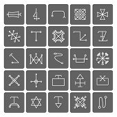 foto of illuminati  - Mystical symbols and sacred signs icons set - JPG