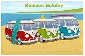 image of camper-van  - Summer travel design with camper van - JPG