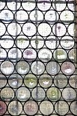 picture of reinforcing  - Window with reinforced glass and decorative metal net - JPG