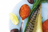 image of plate fish food  - diet food  - JPG