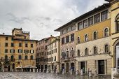 stock photo of michel  - Piazza San Michele is square in Lucca city center Italy - JPG