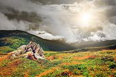 stock photo of mountain-range  - Chorna hora mountain range - JPG