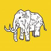 foto of mammoth  - Mammoth Doodle - JPG