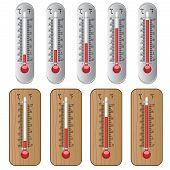 image of thermometer  - Set of thermometers on the white background - JPG