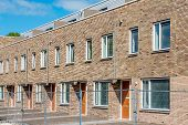 picture of row houses  - Newly built row houses ready for occupation - JPG