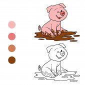 stock photo of color animal  - Game for children - JPG