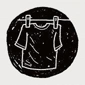 stock photo of clotheslines  - Clothesline Doodle - JPG