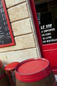 picture of bordeaux  - Terrace of an old and vintage French bistro in Bordeaux - JPG