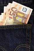 Euros In Back Pocket