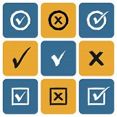 picture of confirmation  - Vector Set of hand drawn Check Marks Icons - JPG