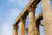 foto of akropolis  - Temple of the Olympian Zeus and the Acropolis in Athens - JPG