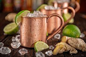image of vodka  - Cold Moscow Mules  - JPG