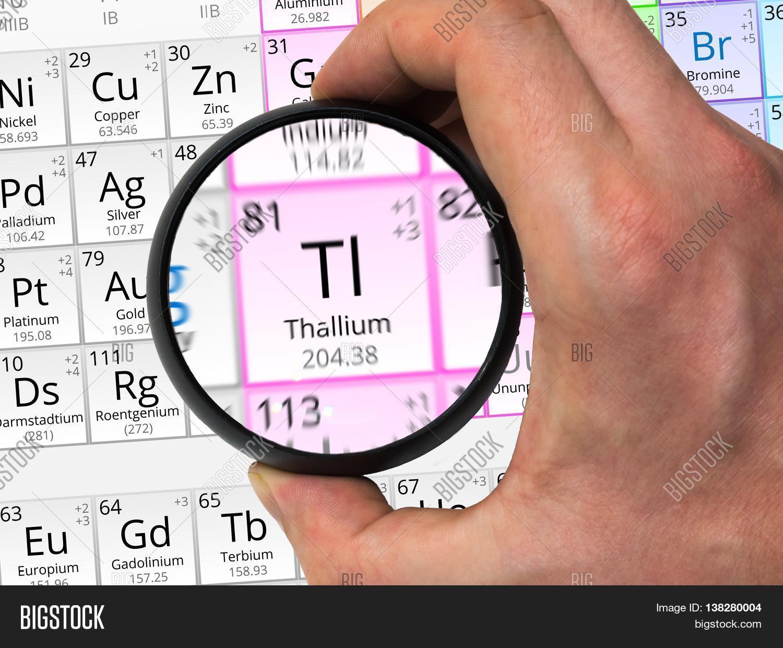 Thallium symbol tl element image photo bigstock thallium symbol tl element of the periodic table zoomed with gamestrikefo Images