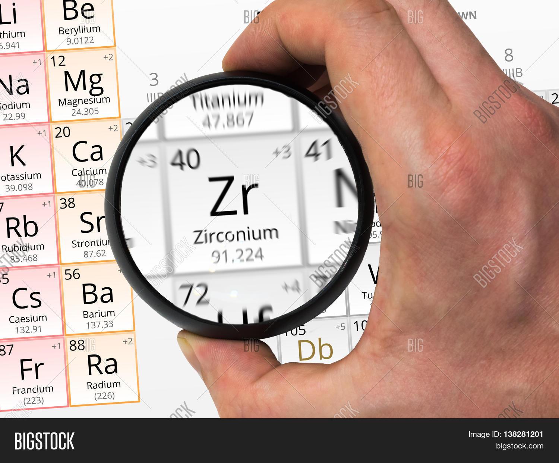 Imagen y foto zirconium symbol zr element bigstock zirconium symbol zr element of the periodic table zoomed with gamestrikefo Images