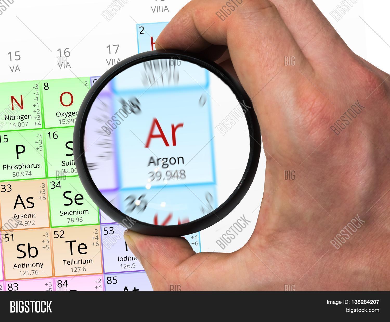 Argon symbol ar element periodic image photo bigstock argon symbol ar element of the periodic table zoomed with mag gamestrikefo Choice Image