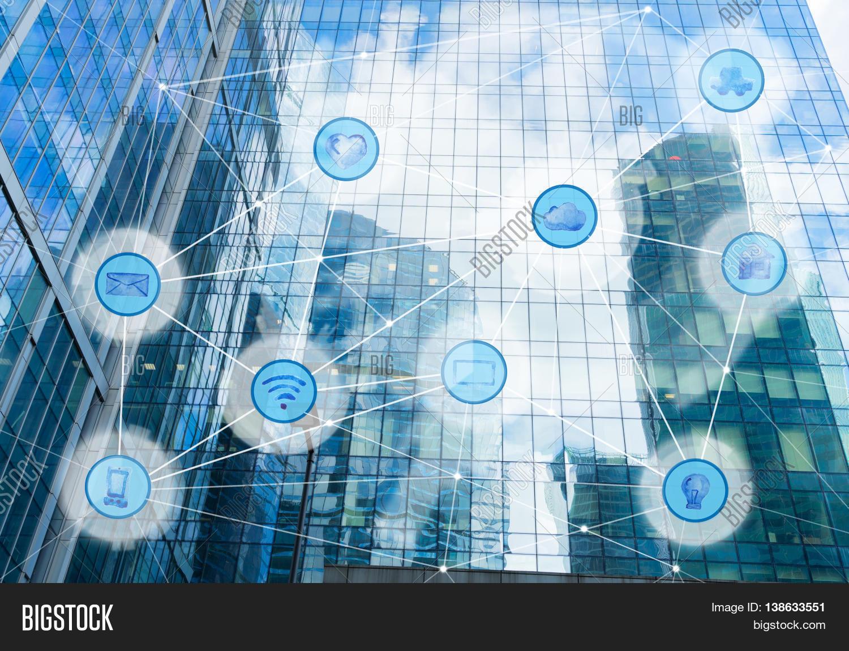 Skyscrapers Wireless Communication Image & Photo | Bigstock