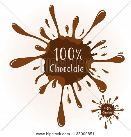 Vector chocolate blot with text