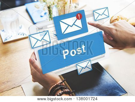 Post Content Internet Mail Opinion Communication Concept