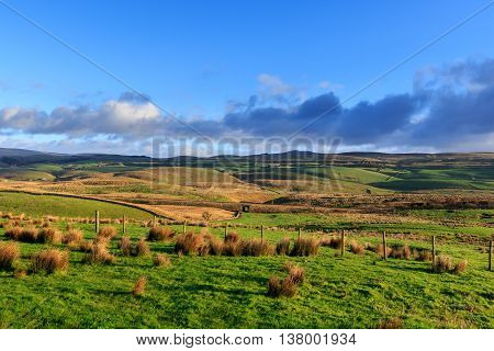 A view of the Yorkshire Dales National Park England
