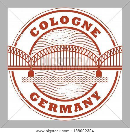 Grunge rubber stamp with words Cologne, Germany inside, vector illustration