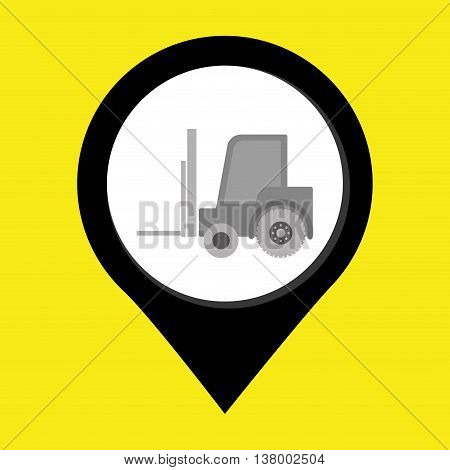 lift truck isolated icon design, vector illustration  graphic