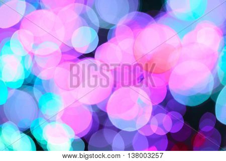 Abstract lights blur blinking background. Soft focus.