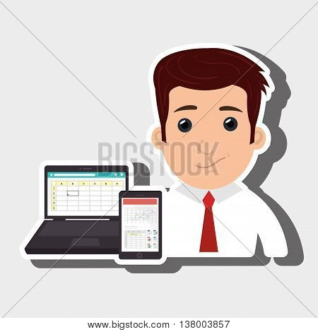 man and accessories isolated icon design, vector illustration  graphic