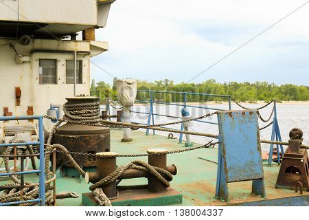 On board tow ship