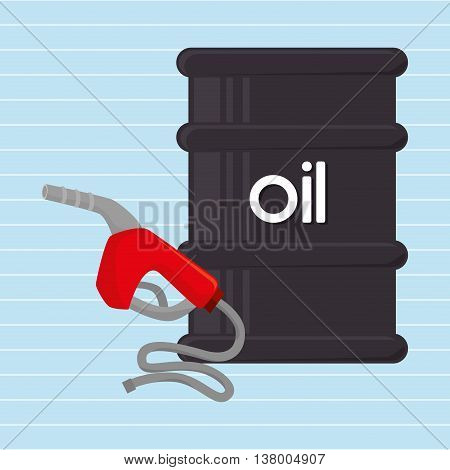 gasoline and oil isolated icon design, vector illustration  graphic