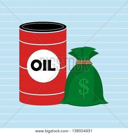 Oil and money isolated icon design, vector illustration  graphic